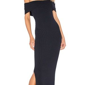 Navy Off Shoulder Maxi Dress by 525 america